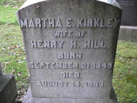 HILL, MARTHA E. - Schuylkill County, Pennsylvania | MARTHA E. HILL - Pennsylvania Gravestone Photos