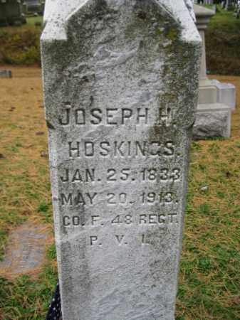 HOSKINS  (HUSKINS) (CW), JOSEPH H. - Schuylkill County, Pennsylvania   JOSEPH H. HOSKINS  (HUSKINS) (CW) - Pennsylvania Gravestone Photos