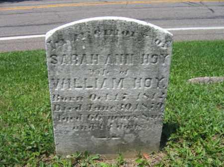 HOY, SARAH ANN - Schuylkill County, Pennsylvania | SARAH ANN HOY - Pennsylvania Gravestone Photos