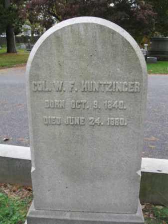HUNTZINGER (CW), WILLIAM F. - Schuylkill County, Pennsylvania   WILLIAM F. HUNTZINGER (CW) - Pennsylvania Gravestone Photos