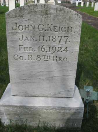 KEICH (SAW), JOHN G. - Schuylkill County, Pennsylvania | JOHN G. KEICH (SAW) - Pennsylvania Gravestone Photos
