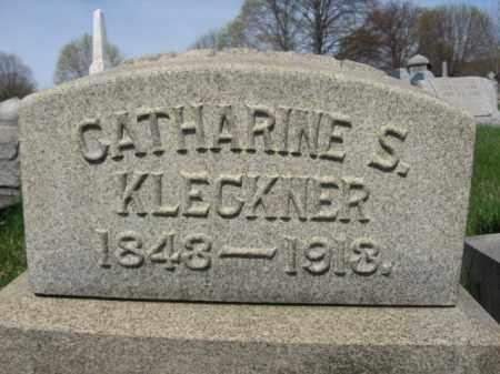 KLECKNER, CATHERINE S. - Schuylkill County, Pennsylvania | CATHERINE S. KLECKNER - Pennsylvania Gravestone Photos