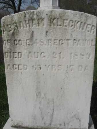 KLECKNER (CW), ABRAHAM - Schuylkill County, Pennsylvania | ABRAHAM KLECKNER (CW) - Pennsylvania Gravestone Photos