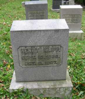 KLIPP, HENRY - Schuylkill County, Pennsylvania | HENRY KLIPP - Pennsylvania Gravestone Photos