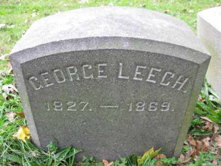 LEECH, GEORGE - Schuylkill County, Pennsylvania | GEORGE LEECH - Pennsylvania Gravestone Photos