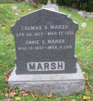 MARSH, ANNIE E. - Schuylkill County, Pennsylvania | ANNIE E. MARSH - Pennsylvania Gravestone Photos