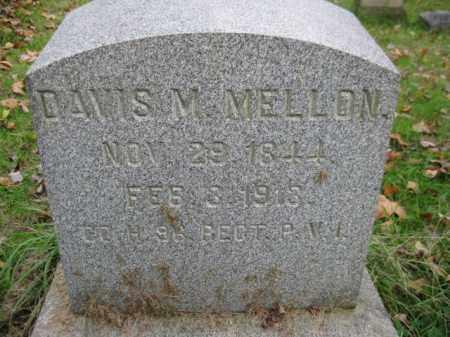 MELLON (CW), DAVIS M. - Schuylkill County, Pennsylvania | DAVIS M. MELLON (CW) - Pennsylvania Gravestone Photos