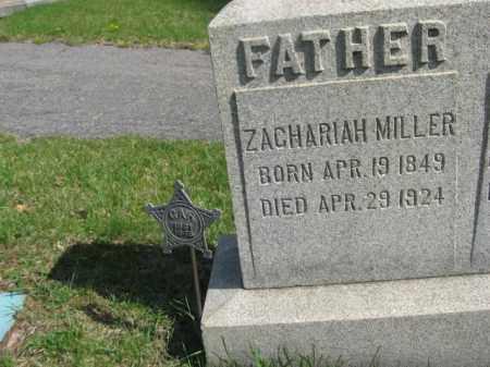 MILLER (CW), ZACHARIAH - Schuylkill County, Pennsylvania | ZACHARIAH MILLER (CW) - Pennsylvania Gravestone Photos