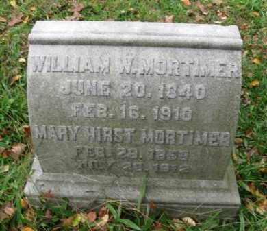MORTIMER (CW), WILLIAM W. - Schuylkill County, Pennsylvania   WILLIAM W. MORTIMER (CW) - Pennsylvania Gravestone Photos