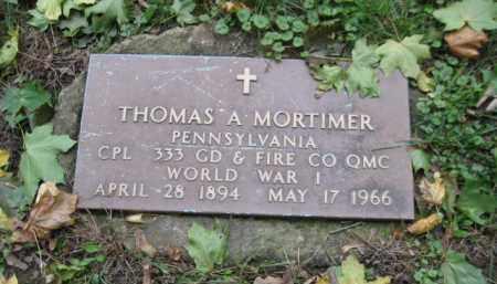 MORTIMER (WW I), THOMAS A. - Schuylkill County, Pennsylvania | THOMAS A. MORTIMER (WW I) - Pennsylvania Gravestone Photos