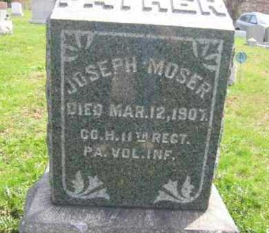 MOSER  (CW), JOSEPH - Schuylkill County, Pennsylvania   JOSEPH MOSER  (CW) - Pennsylvania Gravestone Photos