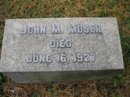MOSER, JOHN M. - Schuylkill County, Pennsylvania | JOHN M. MOSER - Pennsylvania Gravestone Photos