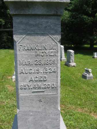 MOYER, FRANKLIN M. - Schuylkill County, Pennsylvania | FRANKLIN M. MOYER - Pennsylvania Gravestone Photos