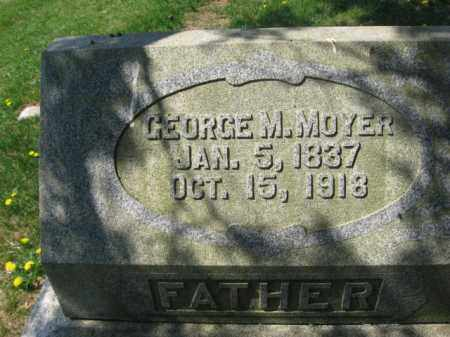 MOYER, GEORGE M. - Schuylkill County, Pennsylvania | GEORGE M. MOYER - Pennsylvania Gravestone Photos