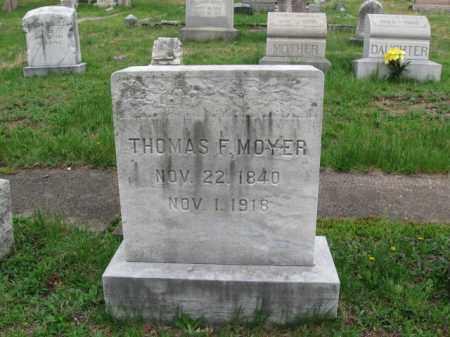 MOYER, THOMAS F. - Schuylkill County, Pennsylvania | THOMAS F. MOYER - Pennsylvania Gravestone Photos