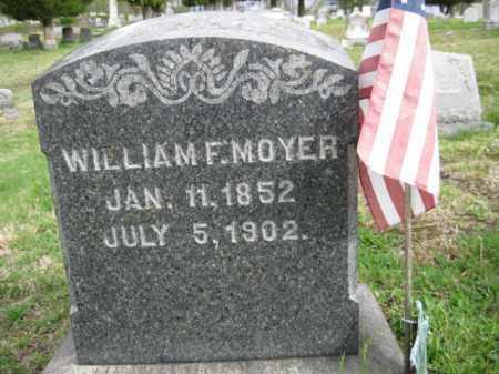 MOYER, WILLIAM  F. - Schuylkill County, Pennsylvania | WILLIAM  F. MOYER - Pennsylvania Gravestone Photos