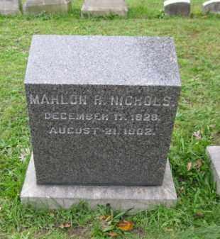 NICHOLS (CW), MAHLON R. - Schuylkill County, Pennsylvania | MAHLON R. NICHOLS (CW) - Pennsylvania Gravestone Photos