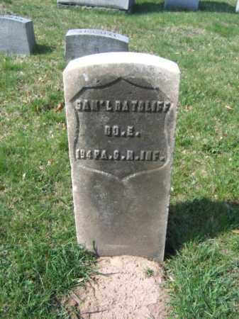 RATCLIFF (CW), SAMUEL - Schuylkill County, Pennsylvania   SAMUEL RATCLIFF (CW) - Pennsylvania Gravestone Photos