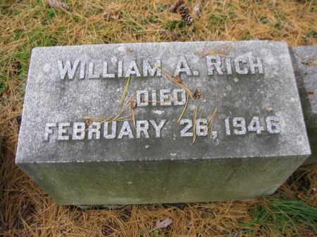 RICH, WILLIAM A. - Schuylkill County, Pennsylvania | WILLIAM A. RICH - Pennsylvania Gravestone Photos