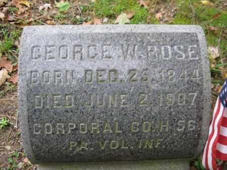 ROSE (CW), GEORGE W. - Schuylkill County, Pennsylvania | GEORGE W. ROSE (CW) - Pennsylvania Gravestone Photos