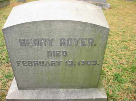 ROYER (CW), HENRY - Schuylkill County, Pennsylvania | HENRY ROYER (CW) - Pennsylvania Gravestone Photos