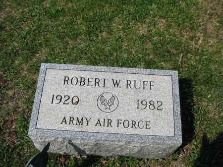 RUFF, ROBERT W. - Schuylkill County, Pennsylvania | ROBERT W. RUFF - Pennsylvania Gravestone Photos
