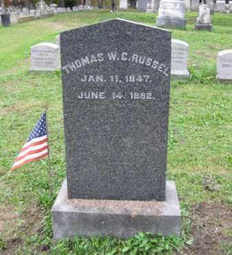 RUSSEL (CW), THOMAS W.C. - Schuylkill County, Pennsylvania | THOMAS W.C. RUSSEL (CW) - Pennsylvania Gravestone Photos
