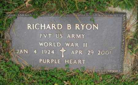RYON (WW II), RICHARD B. - Schuylkill County, Pennsylvania | RICHARD B. RYON (WW II) - Pennsylvania Gravestone Photos