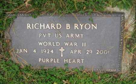 RYON (WW II), RICHARD B. - Schuylkill County, Pennsylvania | RICHARD B. RYON (WW II) - Pennsylvania Gravestone Photos