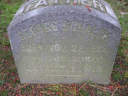 SCHALCK, GEORGE - Schuylkill County, Pennsylvania | GEORGE SCHALCK - Pennsylvania Gravestone Photos