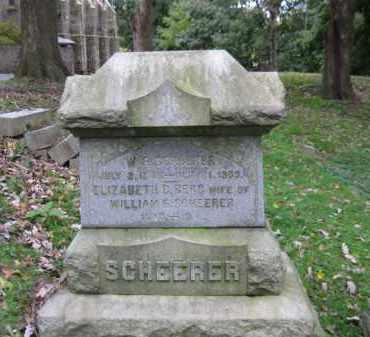 SCHEERER (CW), WILLIAM F. - Schuylkill County, Pennsylvania | WILLIAM F. SCHEERER (CW) - Pennsylvania Gravestone Photos