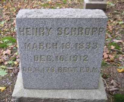 SCHROPP (SCHROPE) (CW), HENRY - Schuylkill County, Pennsylvania   HENRY SCHROPP (SCHROPE) (CW) - Pennsylvania Gravestone Photos
