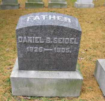 SEIDEL, DANIEL B. - Schuylkill County, Pennsylvania   DANIEL B. SEIDEL - Pennsylvania Gravestone Photos