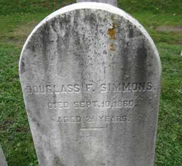 SIMMONS, DOUGLAS F. - Schuylkill County, Pennsylvania | DOUGLAS F. SIMMONS - Pennsylvania Gravestone Photos