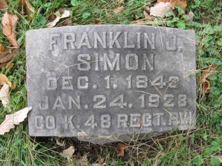SIMON (CW), FRANKLIN J. - Schuylkill County, Pennsylvania   FRANKLIN J. SIMON (CW) - Pennsylvania Gravestone Photos