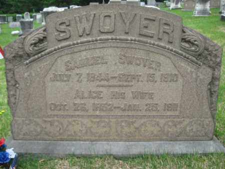 SWOYER, SAMUEL - Schuylkill County, Pennsylvania | SAMUEL SWOYER - Pennsylvania Gravestone Photos