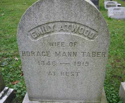 ATWOOD TABER, EMILY - Schuylkill County, Pennsylvania | EMILY ATWOOD TABER - Pennsylvania Gravestone Photos