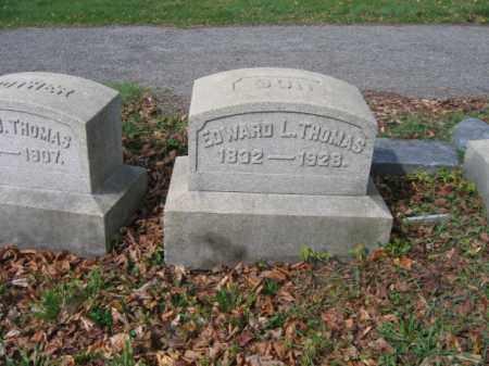 THOMAS, EDWARD L. - Schuylkill County, Pennsylvania | EDWARD L. THOMAS - Pennsylvania Gravestone Photos