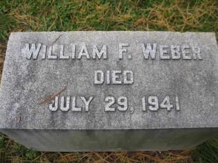 WEBER, WILLIAM F. - Schuylkill County, Pennsylvania   WILLIAM F. WEBER - Pennsylvania Gravestone Photos