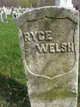 WELSH (WELCH) (CW), RYCE (RICE - Schuylkill County, Pennsylvania | RYCE (RICE WELSH (WELCH) (CW) - Pennsylvania Gravestone Photos