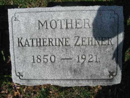 ZEHNER, KATHERINE - Schuylkill County, Pennsylvania | KATHERINE ZEHNER - Pennsylvania Gravestone Photos