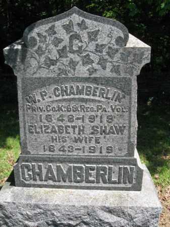 SHAW CHAMBERLIN, ELIZABETH - Susquehanna County, Pennsylvania | ELIZABETH SHAW CHAMBERLIN - Pennsylvania Gravestone Photos