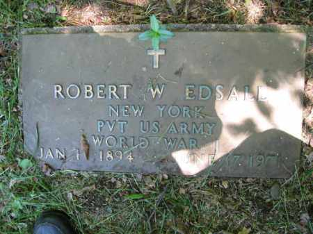 EDSALL (WW I), ROBERT W. - Susquehanna County, Pennsylvania   ROBERT W. EDSALL (WW I) - Pennsylvania Gravestone Photos