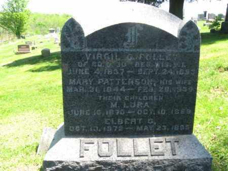 FOLLETT (CW), VIRGIL G. - Susquehanna County, Pennsylvania | VIRGIL G. FOLLETT (CW) - Pennsylvania Gravestone Photos