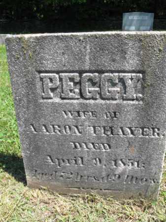 THAYER, PEGGY - Susquehanna County, Pennsylvania | PEGGY THAYER - Pennsylvania Gravestone Photos