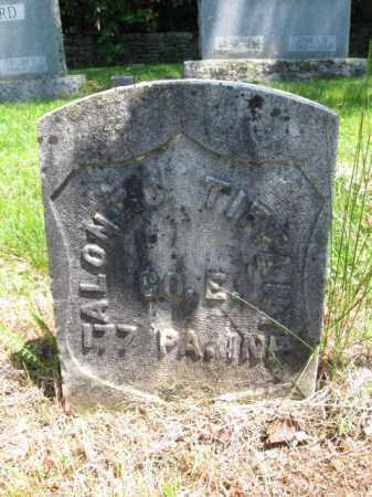 TIFFANY (CW), ALONZO - Susquehanna County, Pennsylvania | ALONZO TIFFANY (CW) - Pennsylvania Gravestone Photos