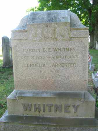 WHITNEY (CW), DAVID E. - Susquehanna County, Pennsylvania | DAVID E. WHITNEY (CW) - Pennsylvania Gravestone Photos