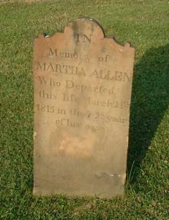 ALLEN, MARTHA - Washington County, Pennsylvania | MARTHA ALLEN - Pennsylvania Gravestone Photos
