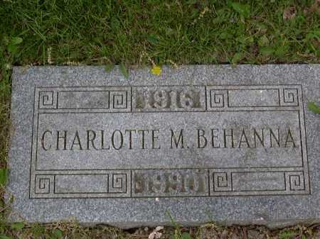 MALOY BEHANNA, CHARLOTTE - Washington County, Pennsylvania | CHARLOTTE MALOY BEHANNA - Pennsylvania Gravestone Photos