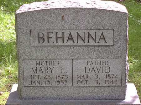 BEHANNA, DAVID - Washington County, Pennsylvania | DAVID BEHANNA - Pennsylvania Gravestone Photos
